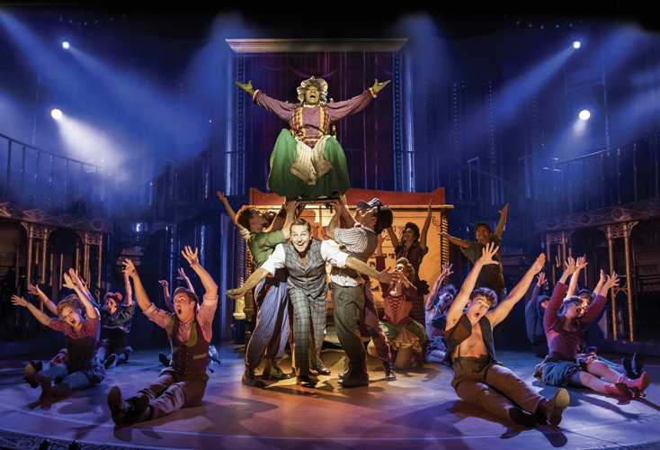 1. BARNUM - Brian Conley as 'PT Barnum' and company.  Photo by Johan Persson