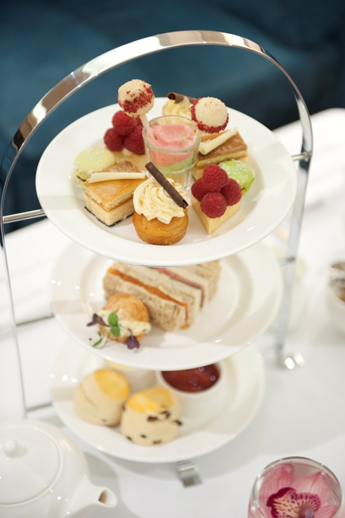 Afternoon Tea at Lancaster London - cake stand