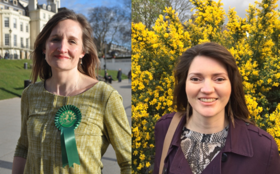 Green Party candidates Andree Frieze and Caroline Wren stand aside in south west London