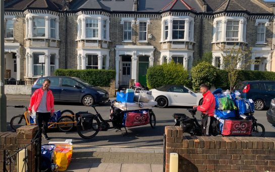 Pedal Me cyclists deliver vital supplies to families in need.