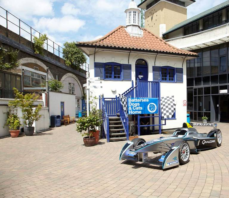 Battersea dogs and cats home formula e car