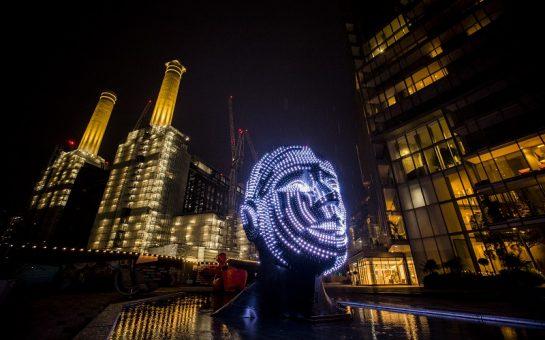 Battersea power station light festival