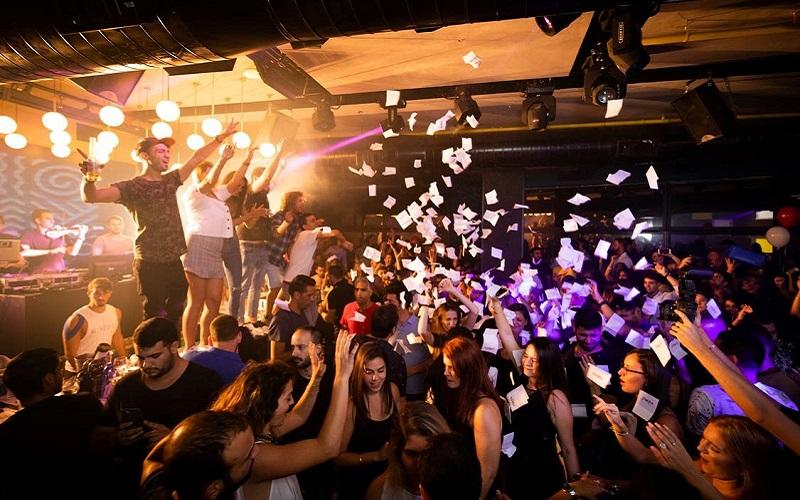 Night club scene