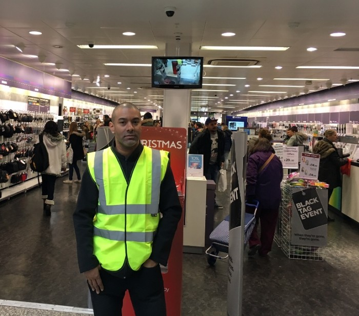 Black Friday security guard swl