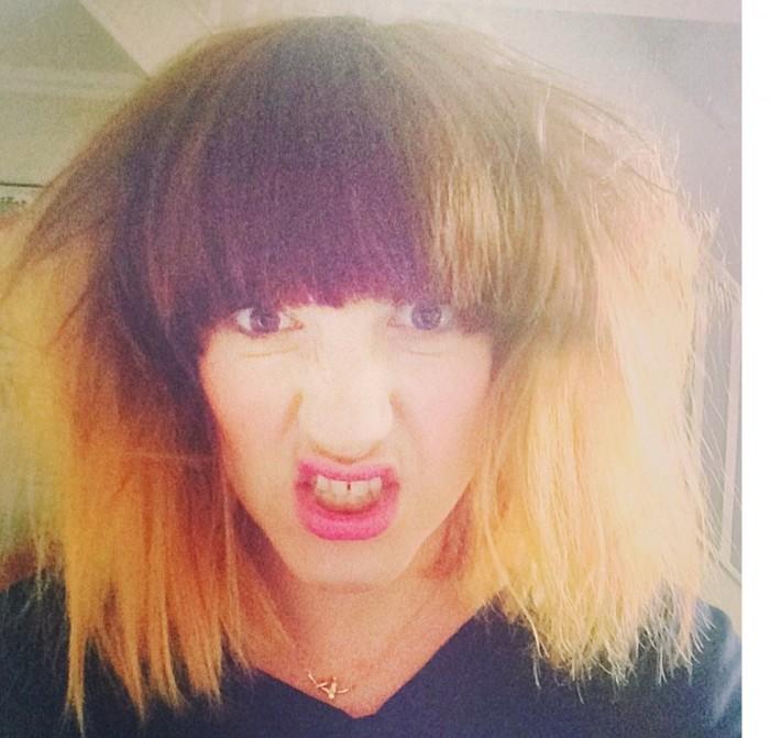 Carrie Barclay big hair selfie