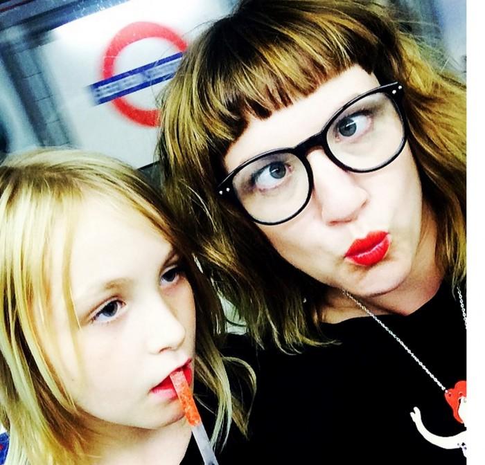 Carrie Barclay selfie London Underground