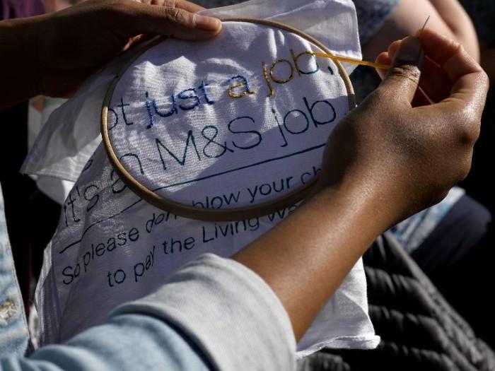Craftivist Collective m&s stitch in hanky stitching PollyBraden