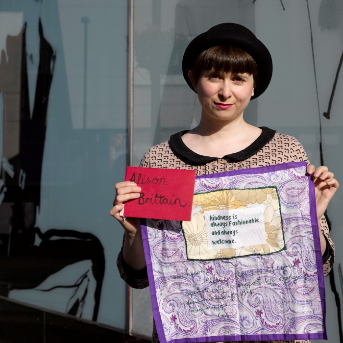 Craftivist Collective m&s stitch in kindness is always welcome PollyBraden