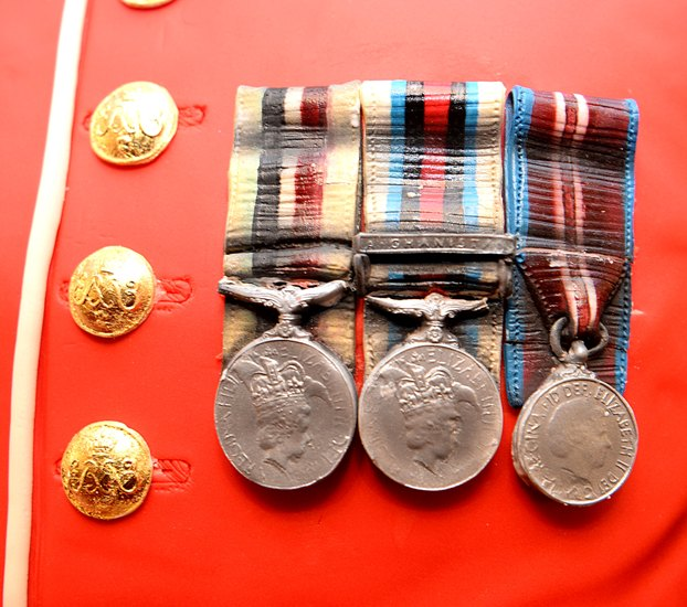 Credit - Sgt R Frere RLC MOD Crown Copyright LOND-2014-163-Guards Cake-061 medals and buttons close-up