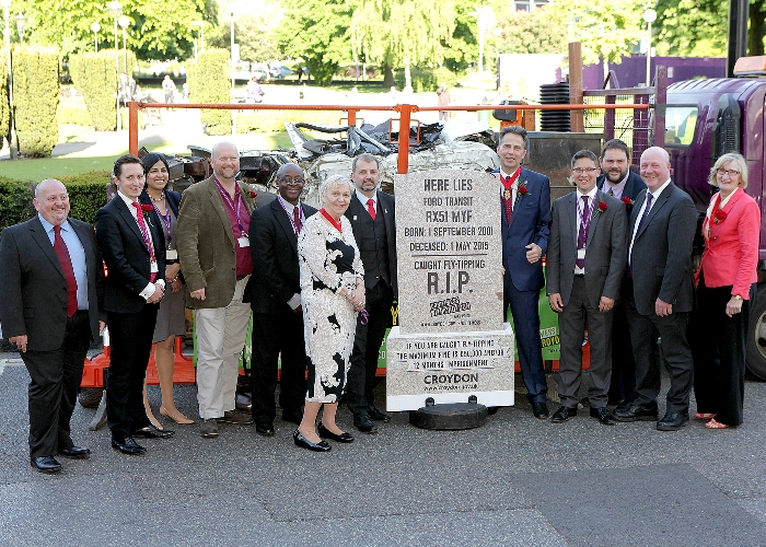 Crushed van and Labour councilors