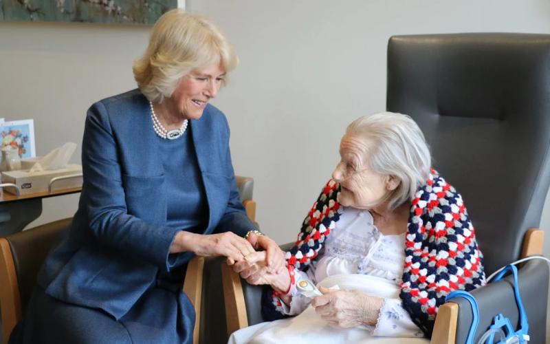Duchess of Cornwall visiting Royal Trinity Hospice