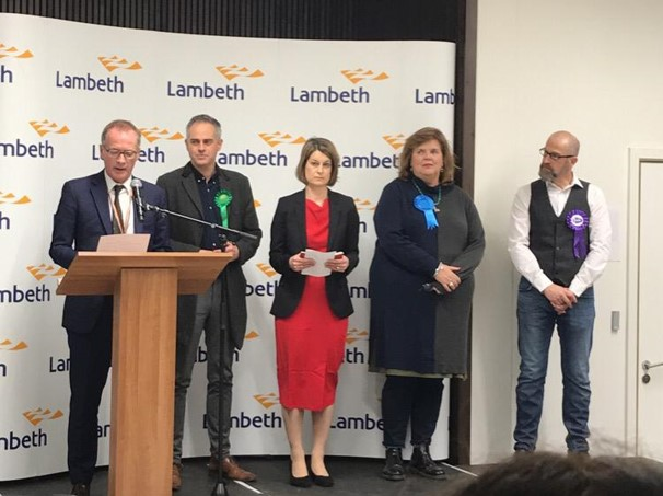 Jonathan Bartley (second-left) has blamed Labour's refusal to join an Alliance for the Conservative victory in the General Election
