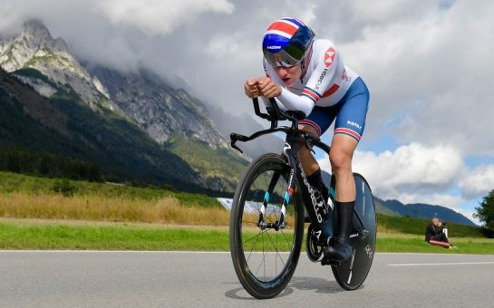 Ethan Hayter cycling