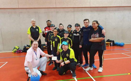 TRANSFORMED: Thomas Britton (centre) with Croysutt Warriors teammates