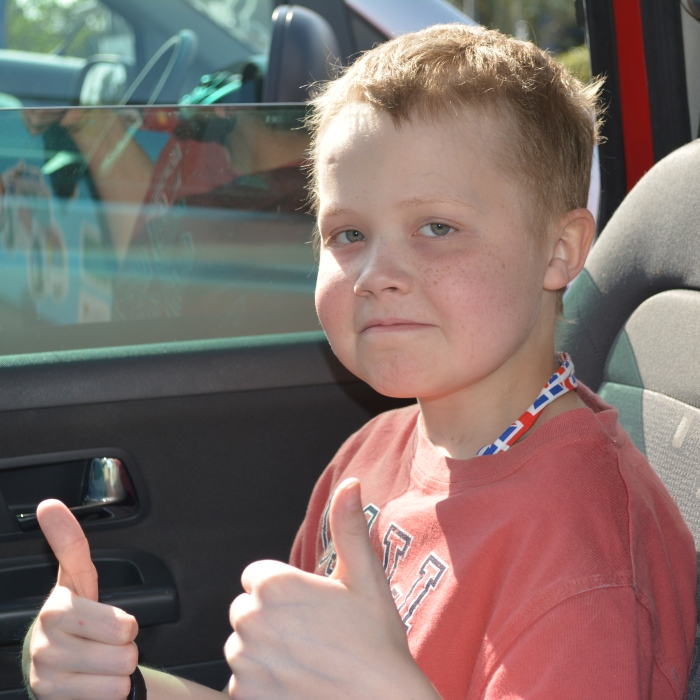 Fabian Bate thumbs up pic courtesy of Bate family