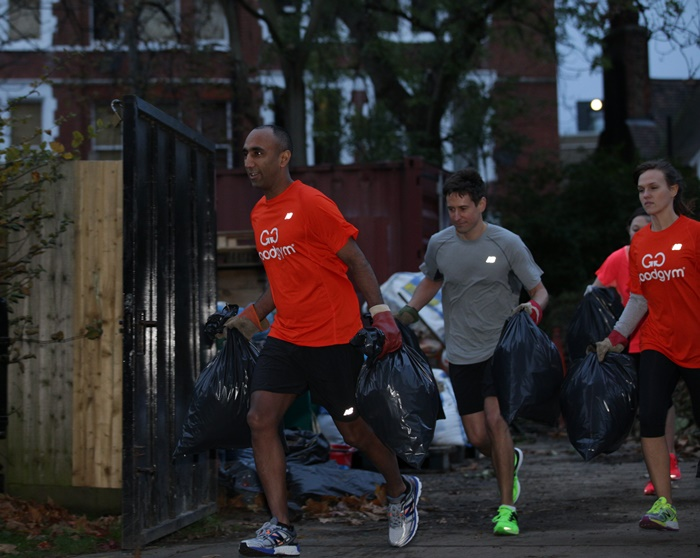 GoodGym clearing rubbish