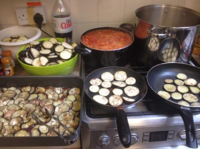 Graveney Canteen food being cooked