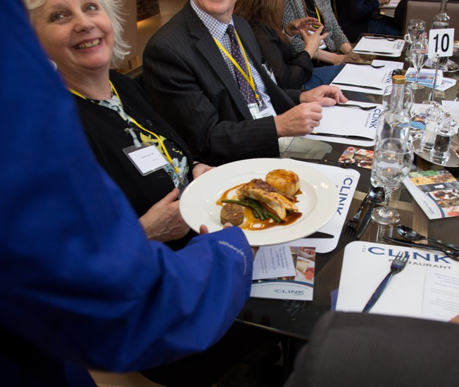 Guests enjoying lunch at the launch pic courtesy of The Clink Charity