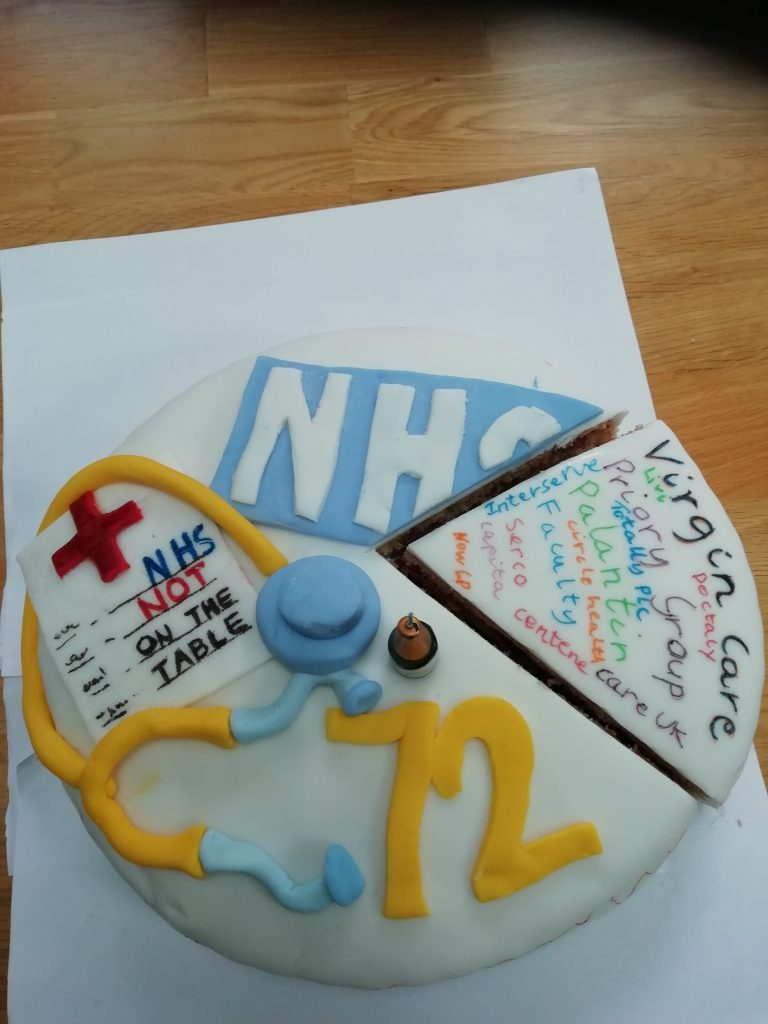 Private companies have been warned to stop taking slices out of the NHS