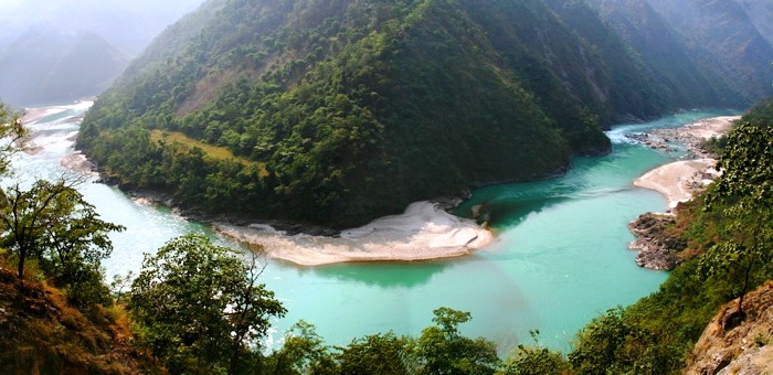 India Ganga panoramic above Rishikesh flickr  Michael Foley