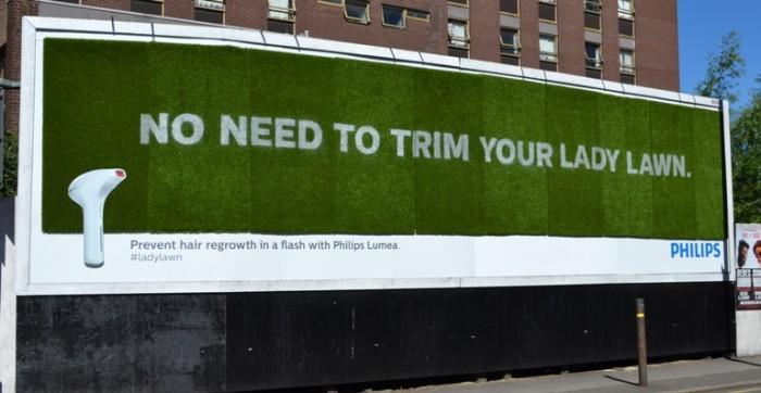 Lady lawn billboard