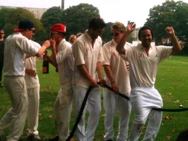 Made in Chelsea cricket tug of war arms in air2