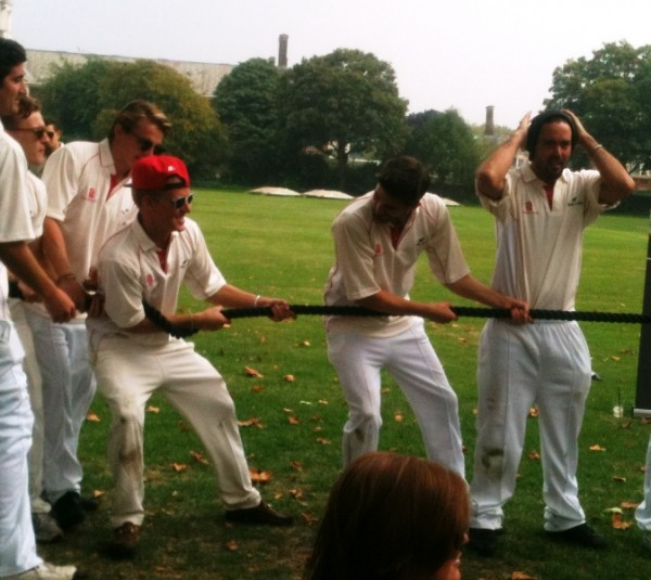 Made in Chelsea cricket tug of war pull2