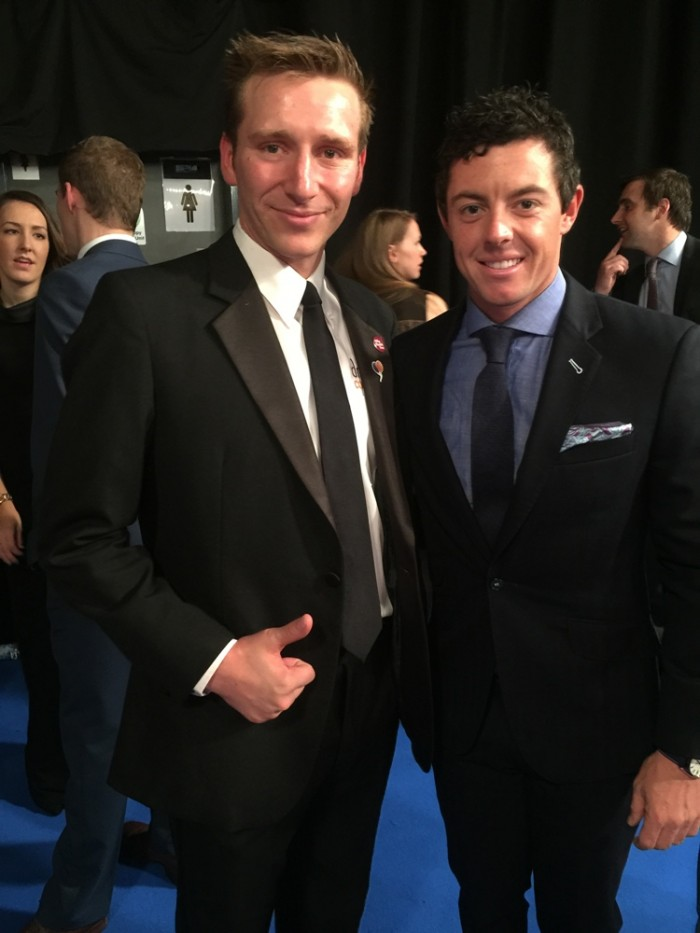 Marathon Man Rob Young Rory McIllroy BBC Sports Personality of the Year 2014