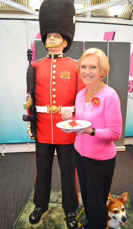 Mary Berry with Gus rosie cake diva