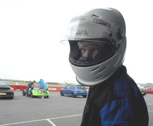 Max Spooner in helmet
