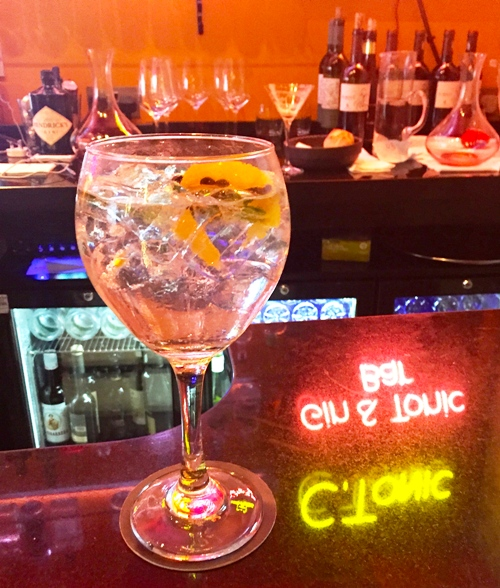 NADAL RESTAURANT gin and tonic