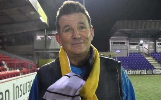 Sutton United manager Paul Doswell speaking to SUFCtv