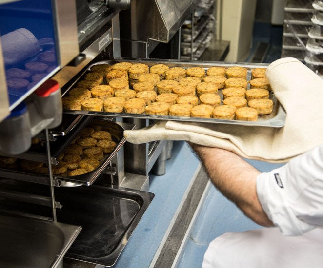 Prisoner at work in the kitchen at The Clink at HMP Brixton pic courtesy of The Clink Charity