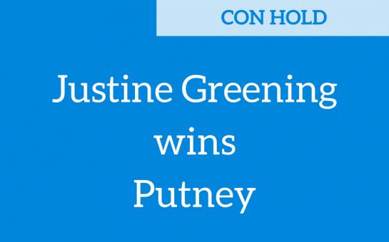 Justine Greening wins Putney - General Election 2017