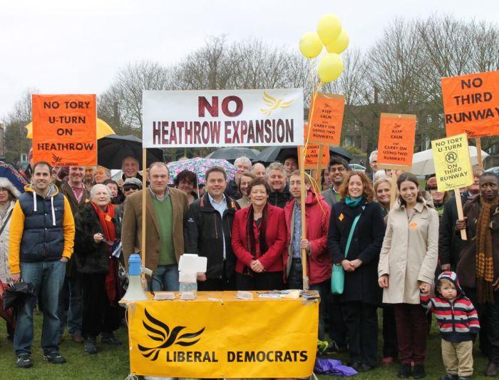 Robin Meltzer Lib Dem Richmond Park Heathrow protest