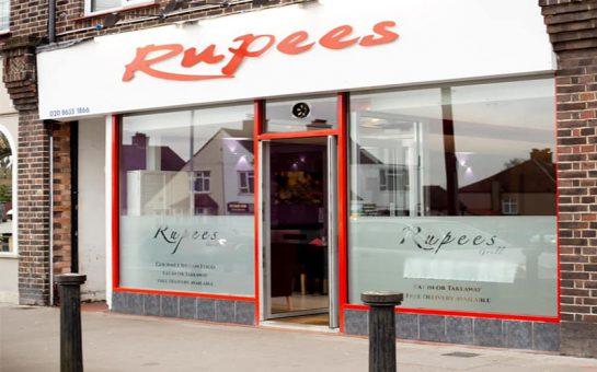Rupees Grill restaurant exterior from street