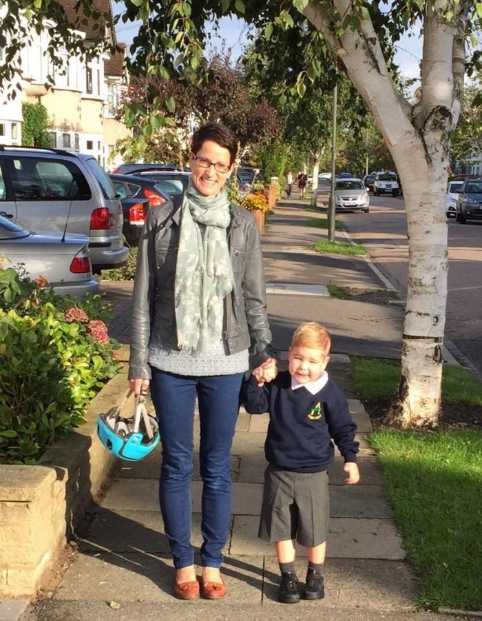Sam with son Luke