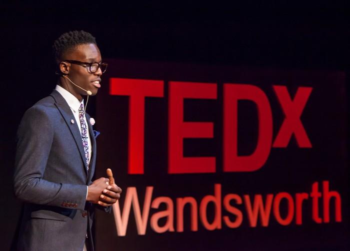 Solomon @ Tedx landscape close up Charlie Round-Turner