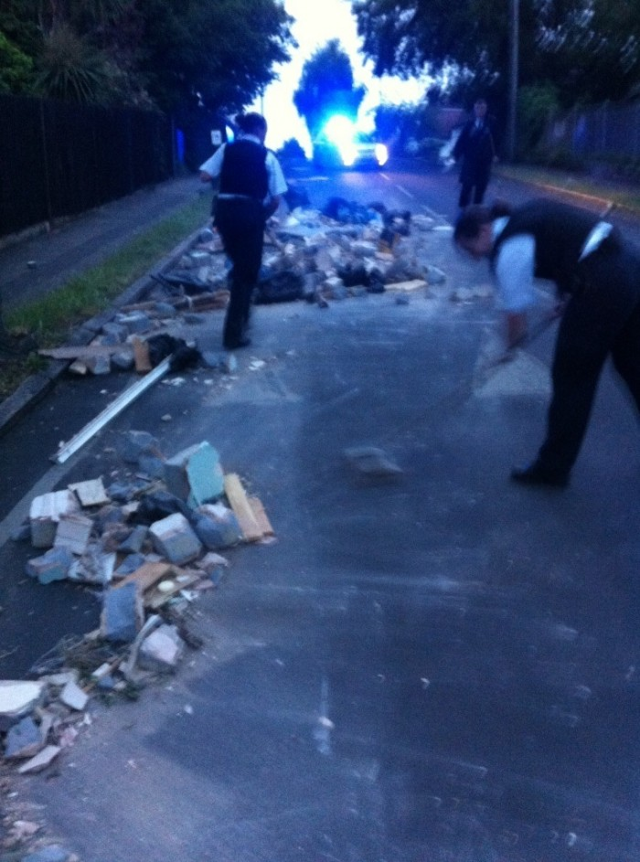 Sutton flytipping police sweeping up