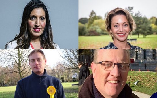 All parliamentary candidates for Tooting at the December 12th general election