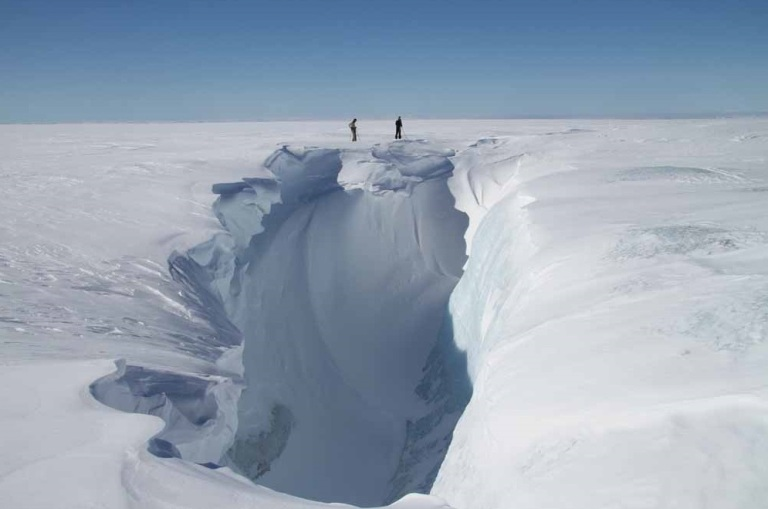 Turner Twins Greenland crevasse