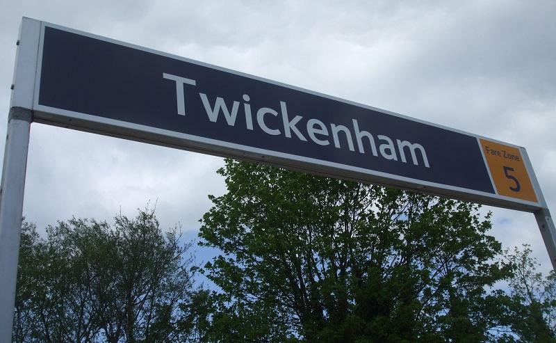 Twickenham station sign