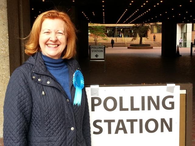 Victoria Borwick Kensington polling station 2