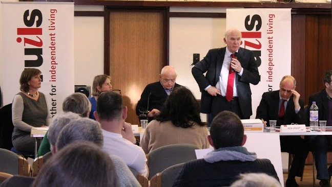 Vince Cable hustings Vince standing