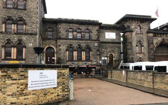 Exterior grey building Wandsworth Prison