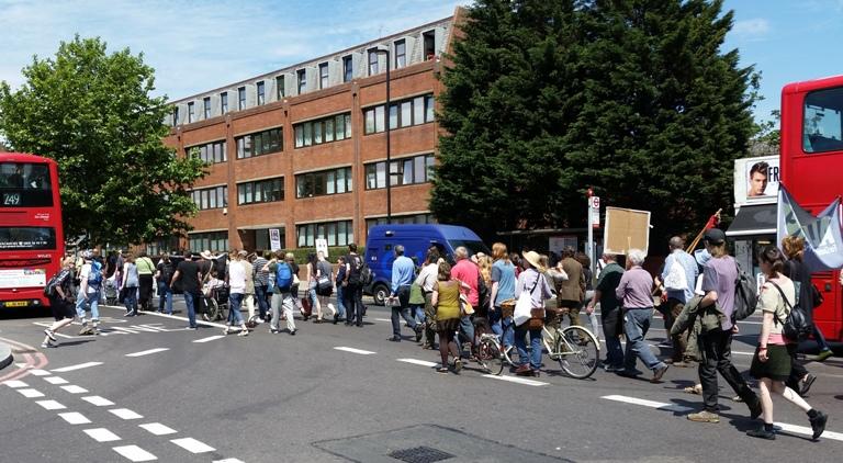 jobcentre protest march