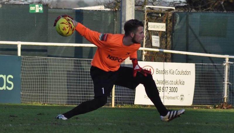Carshalton Athletic goalkeeper Joe Tupper