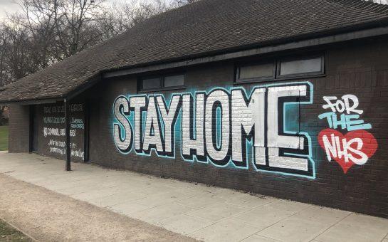 graffiti in kingston reinforces coronavirus lockdown rules