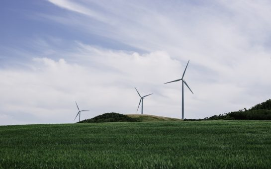 A wind farm in the countryside
