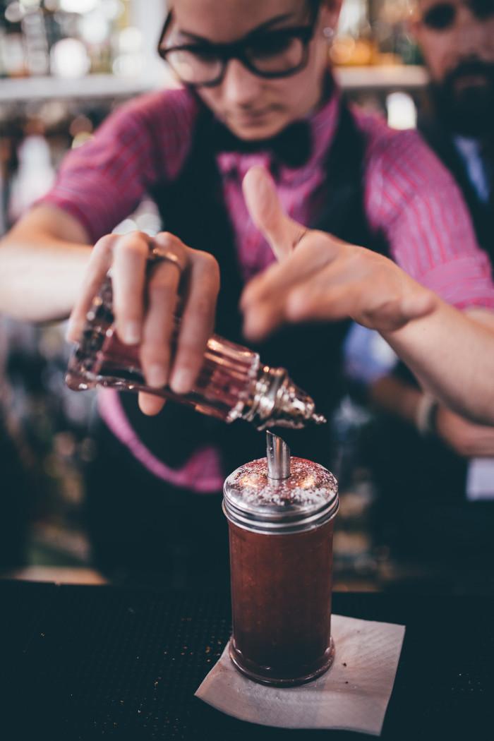 three six six fetish cocktail retro sugar shaker
